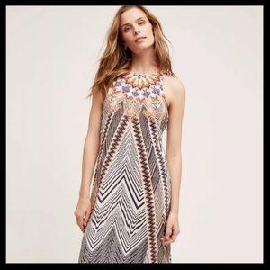 Anthro HD in Paris Solstice Silk Maxi Dress